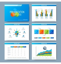 Set of template for presentation slides vector image