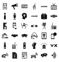stereo icons set simple style vector image