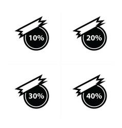 sticker price label set vector image vector image