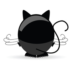 sweet and cute cat vector image