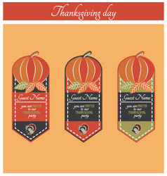 Thanksgiving party invitation vector image