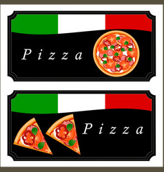 the theme pizza vector image vector image