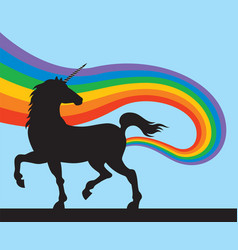 unicorns fart rainbows vector image vector image