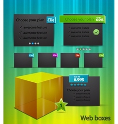 web box templates vector image vector image