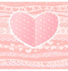 Love valentines day wedding heart card vector