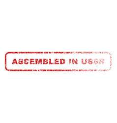 Assembled in ussr rubber stamp vector