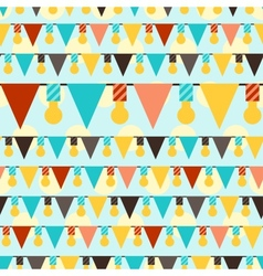 Happy birthday party seamless pattern with vector