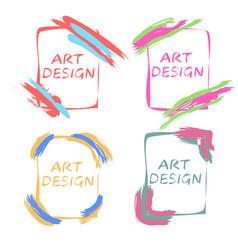 Pop art design frames for an gallery art studio vector