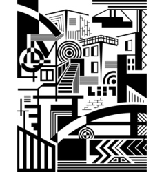 Town abstract vector