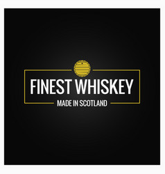 whiskey quality logo design background vector image