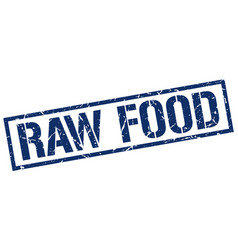 Raw food stamp vector