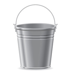 metal bucket vector image