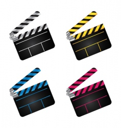 Movie clapper boards vector