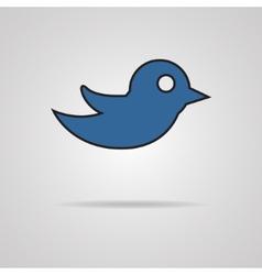 Bird design over gray background vector image
