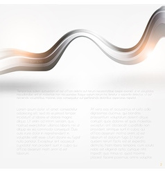 Metal swirl background with text vector