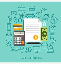 Financial statement conceptual flat style vector