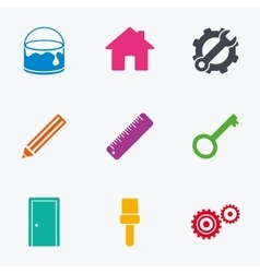 Repair construction icons service signs vector