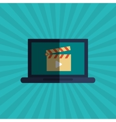Movie and laptop design vector