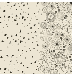 Birds from a flower vector