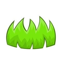 Green grass icon in cartoon style vector