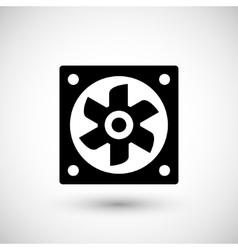 Ventilation fan icon vector
