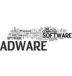 Adware removal text word cloud concept vector