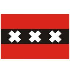 Amsterdam Netherlands flag vector image