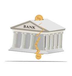 Bank broken2 vector image