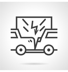 Car insurance sign line icon vector