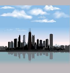 Chicago city view urban landscape travel usa vector