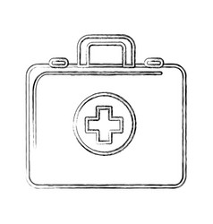 Contour first aid kit emergency vector