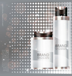 cosmetic bottle on silver background vector image