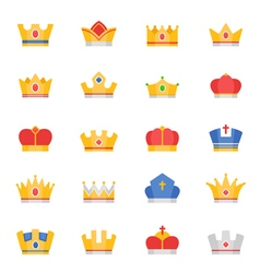 Crown color icons vector image vector image