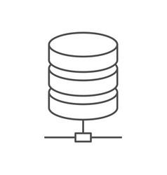 data storage line icon vector image vector image