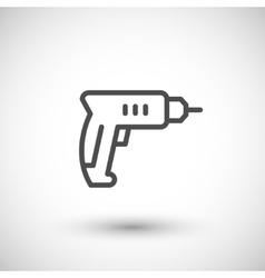 Drill line icon vector image