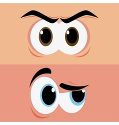 Expressive eyes design vector image vector image