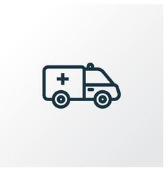 First-aid car outline symbol premium quality vector