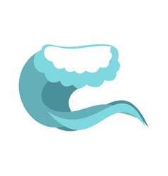 Foamy wave icon cartoon style vector
