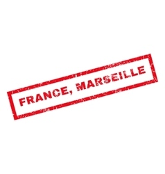 France marseille rubber stamp vector