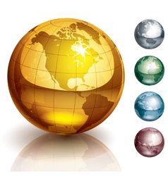 globes vector image