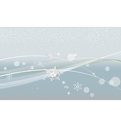 Gray christmas background with snowflakes and vector image vector image