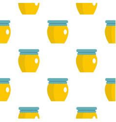 Honey liquid bank pattern flat vector