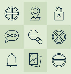 Icons set collection of unlock message bubble vector