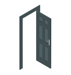 isometric door vector image