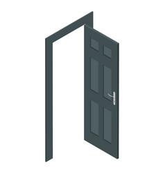 isometric door vector image vector image