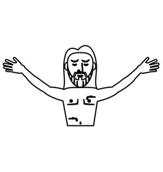 jesus christ resurrection symbol outline vector image vector image