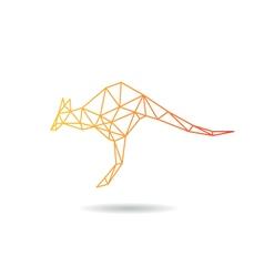 Kangaroo abstract isolated vector