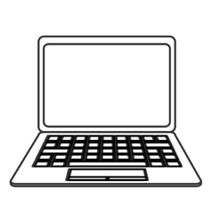 laptop frontview icon vector image vector image