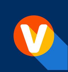 letter v sign design template element vector image vector image