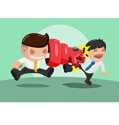 Man iron punch attack strong vector